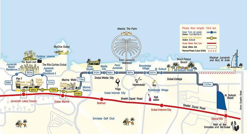 dubai ulaşım haritası